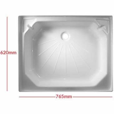 "Caravan/Motorhome PLASTIC SHOWER TRAY 24"" X 30"" WHITE"